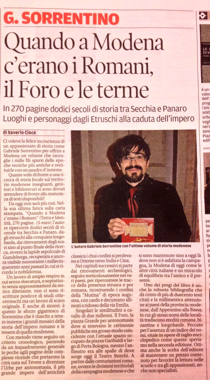 Gazzetta di Modena, 15.12.2013